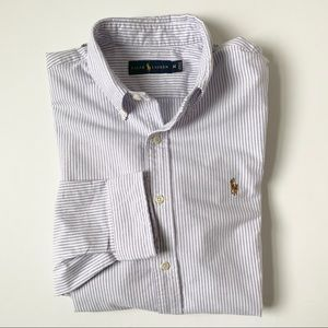Men's Ralph Lauren Stripe Button Down Collar Shirt
